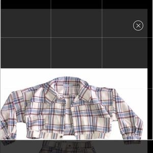 Jackets & Blazers - Cropped plaid jacket